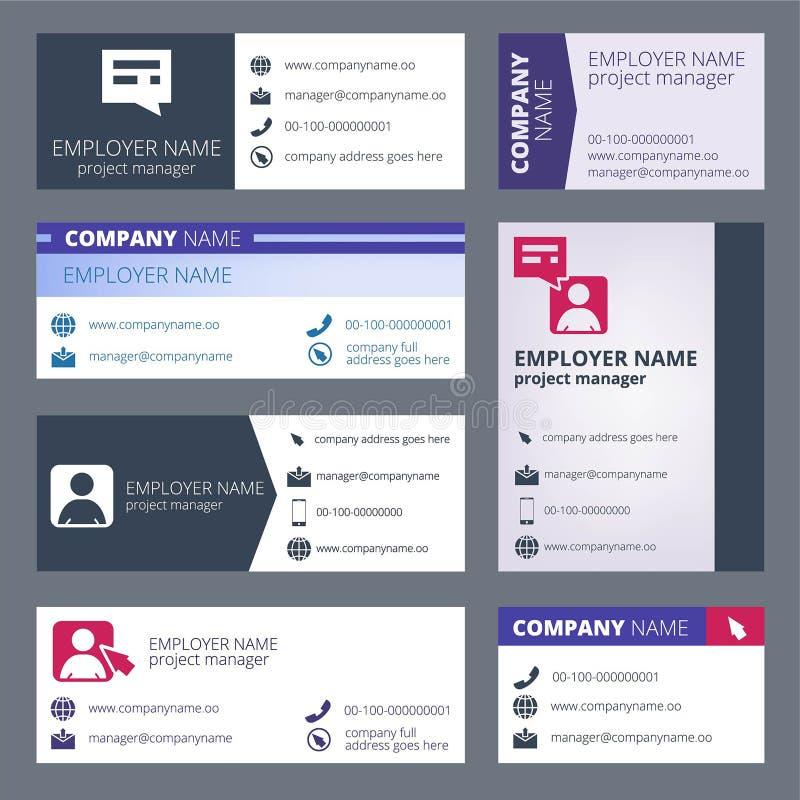 Signature de courrier Calibre de conception de vecteur de l'envoi par courrier électronique de formes de Web illustration de vecteur