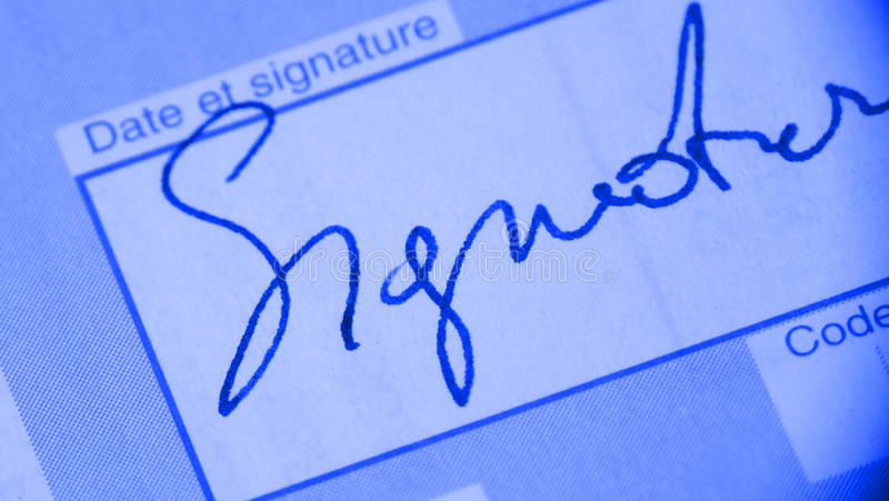 Download Signature on document stock image. Image of signing, signature - 11786631
