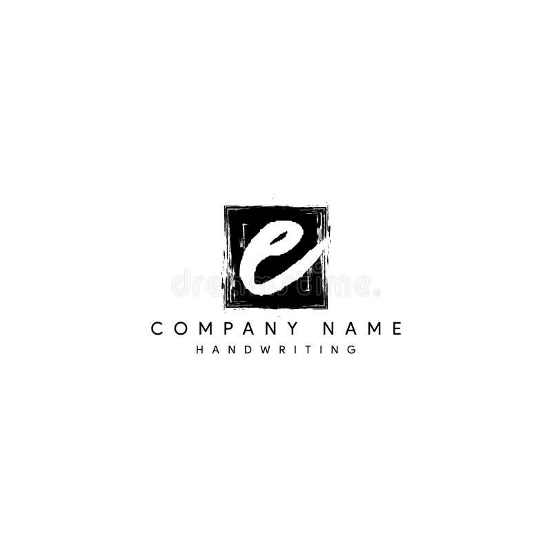 Signature E logo vector. Luxury Signature E logo vector stock illustration