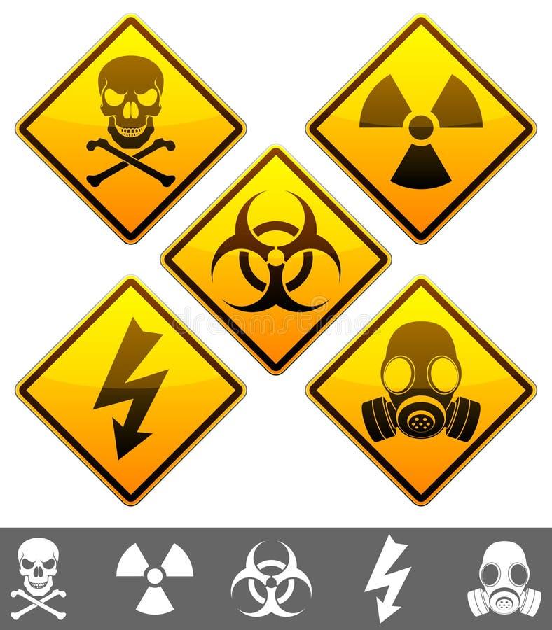 Signaux d'avertissement. illustration libre de droits