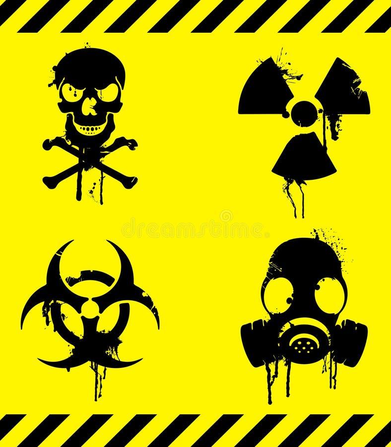 Signaux d'avertissement. illustration stock