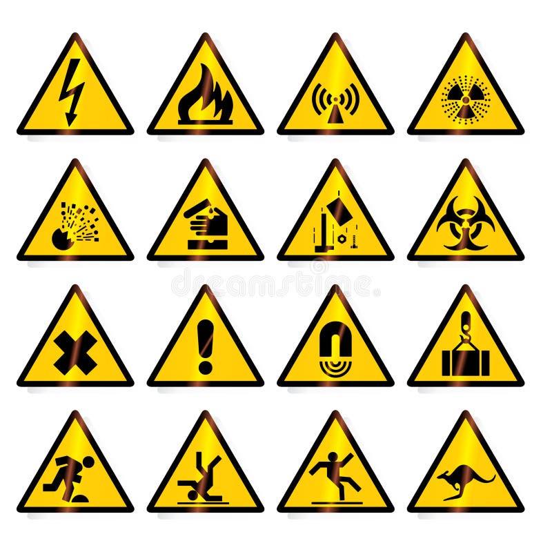 Signaux d'avertissement illustration de vecteur