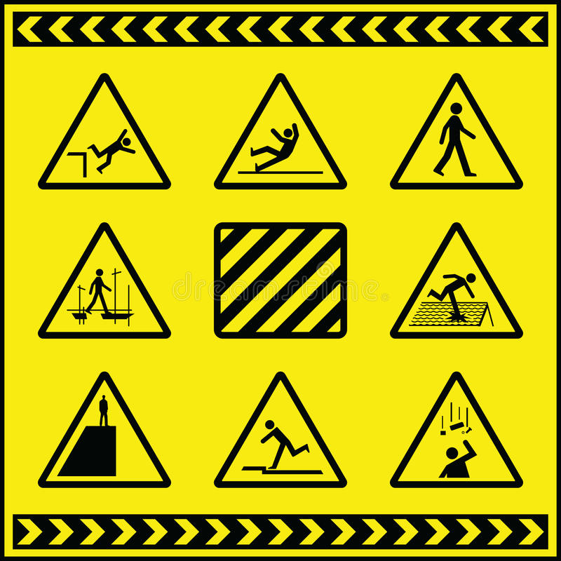 Signaux D Avertissement De Risque 4 Photographie stock