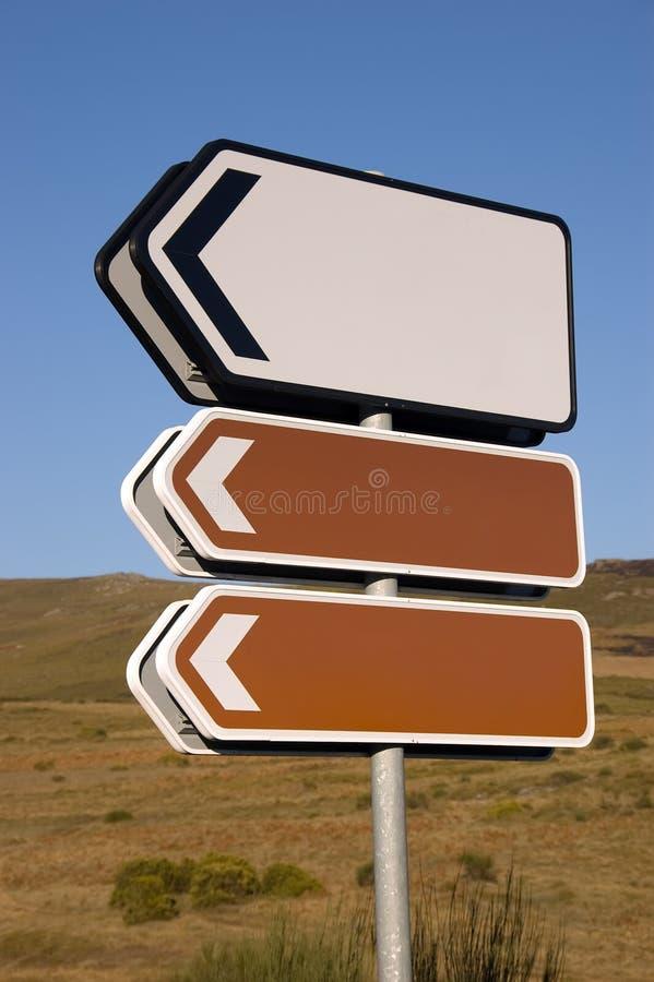 Signaux de direction photo libre de droits