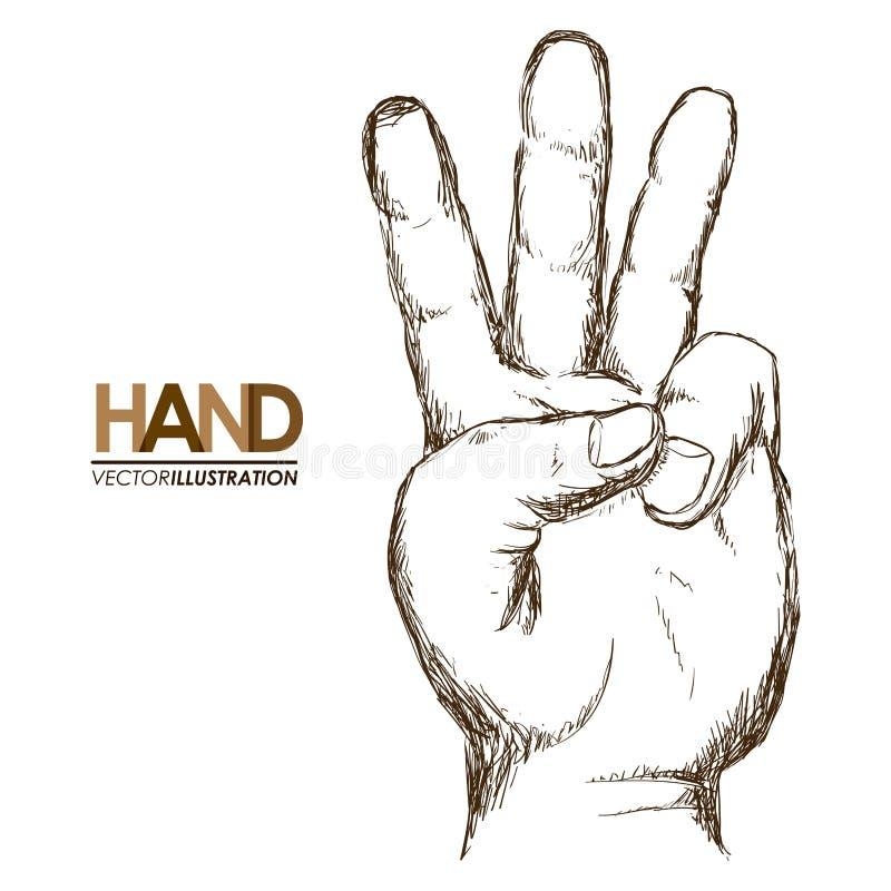 Signaux de mains illustration stock