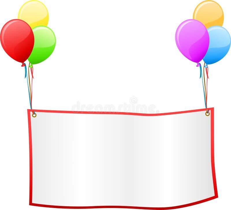 signboard воздушного шара бесплатная иллюстрация