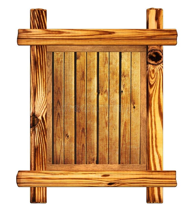 signboard деревянный иллюстрация вектора