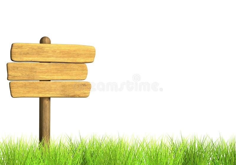 signboard деревянный иллюстрация штока