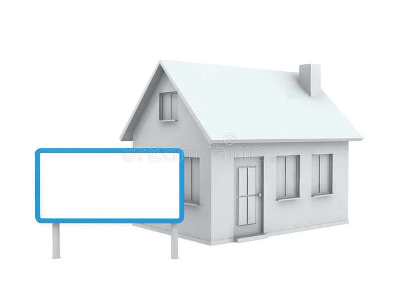 signboard дома иллюстрация вектора
