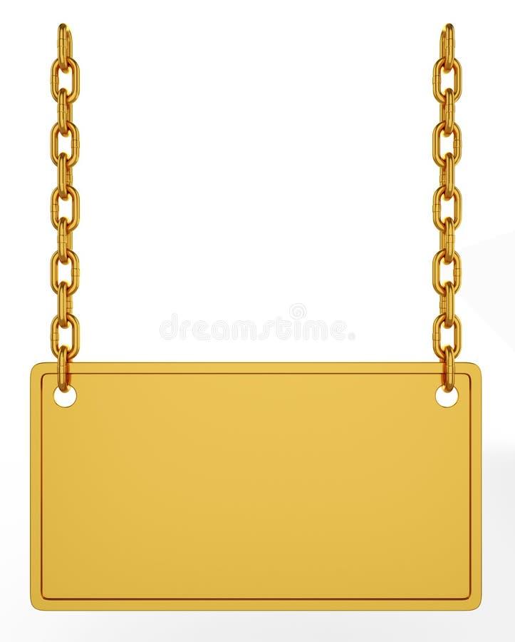 signboard золота иллюстрация вектора