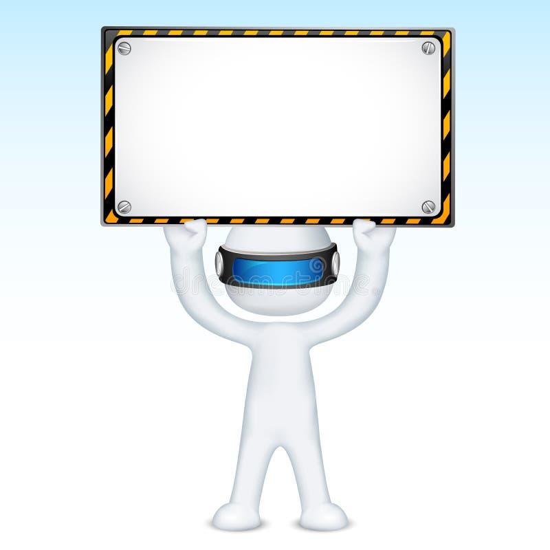 signboard человека конструкции 3d под вектором иллюстрация вектора