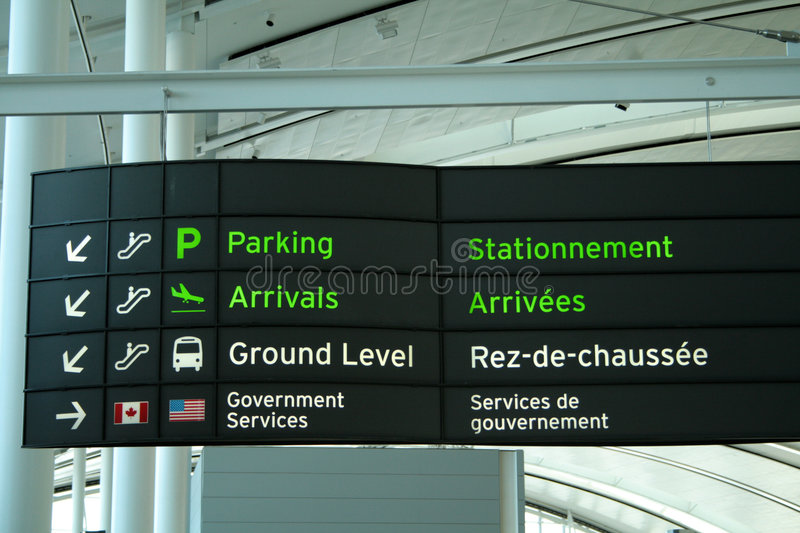 Signboard in Airport royalty free stock images