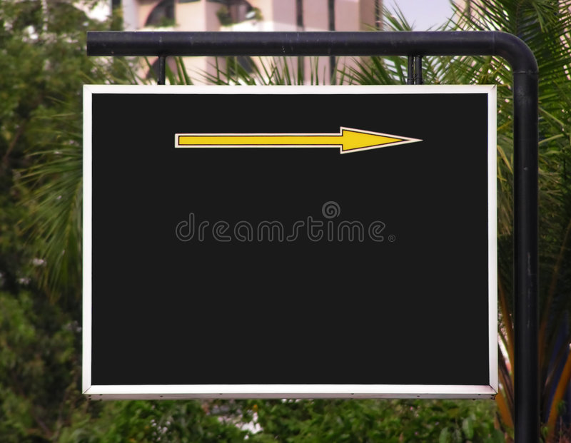 Download Signboard arrow stock photo. Image of rectangle, indication - 163706