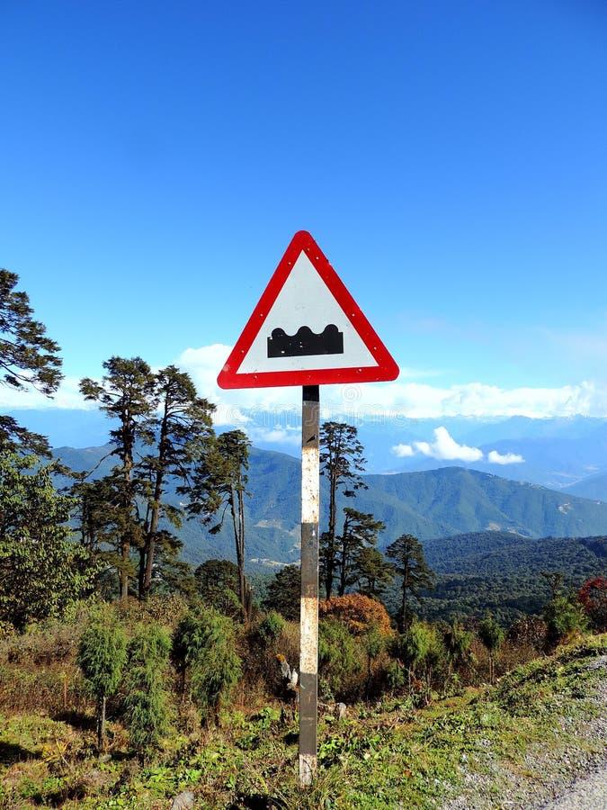 Signboard at Dochula Pass, Bhutan stock photos