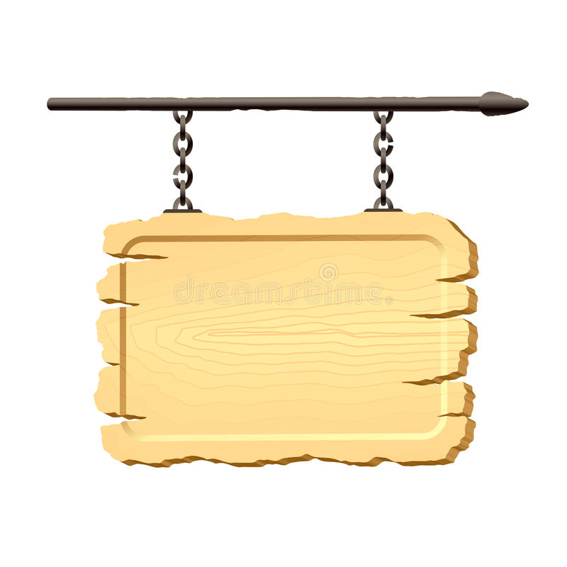 Free Signboard Hanging On Chains Royalty Free Stock Images - 9828519