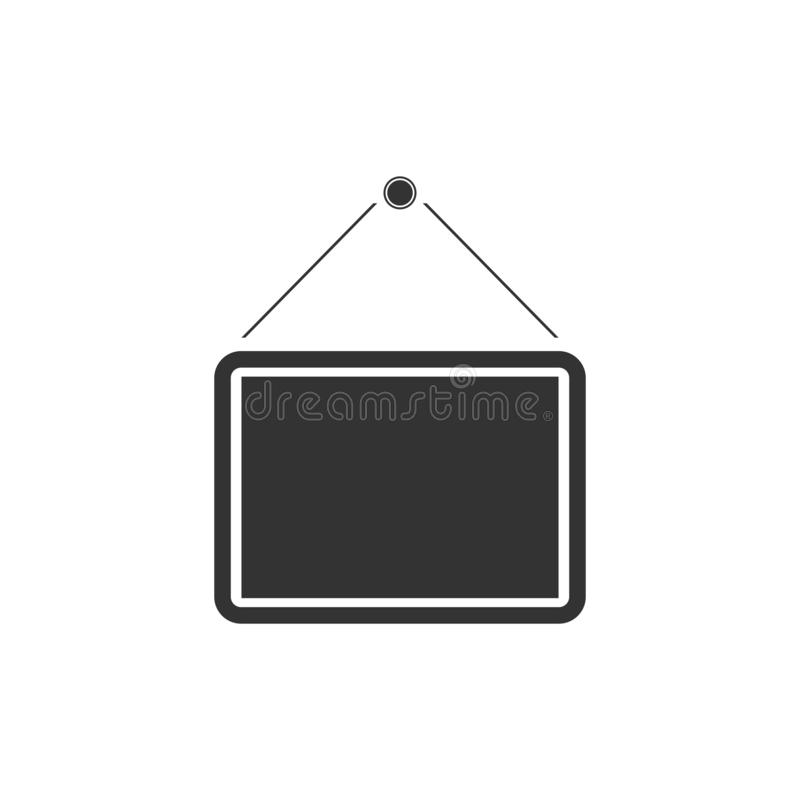 Signboard icon flat. Signboard. Black Icon Flat on white background royalty free illustration
