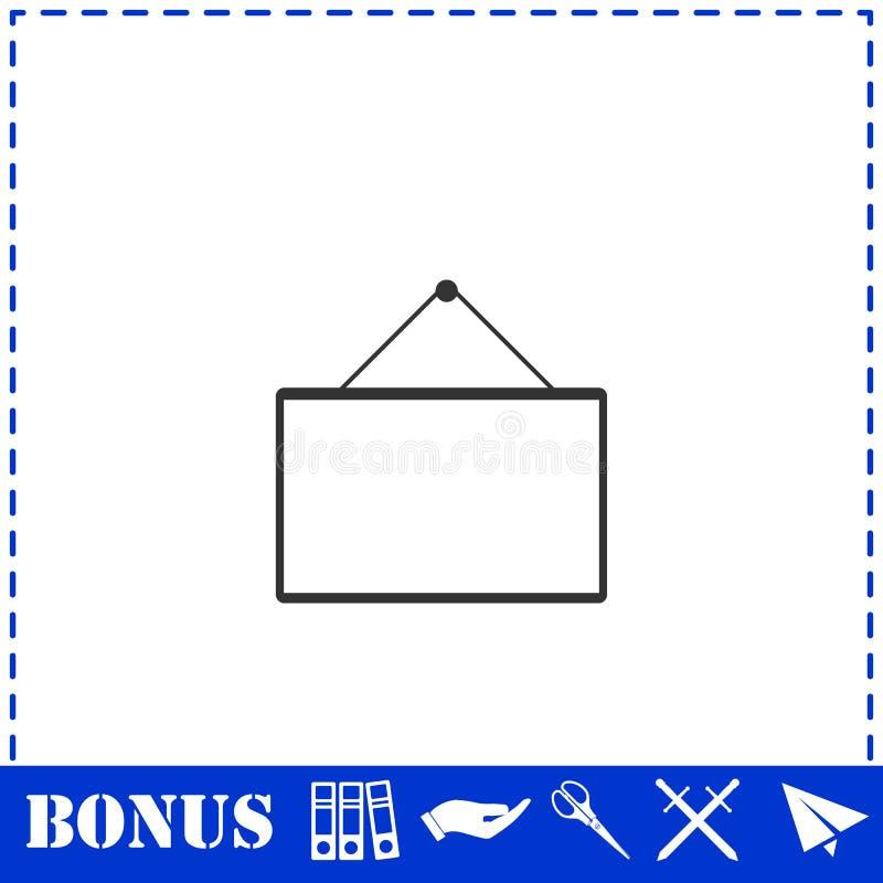 Signboard icon flat. Simple vector symbol and bonus icon vector illustration