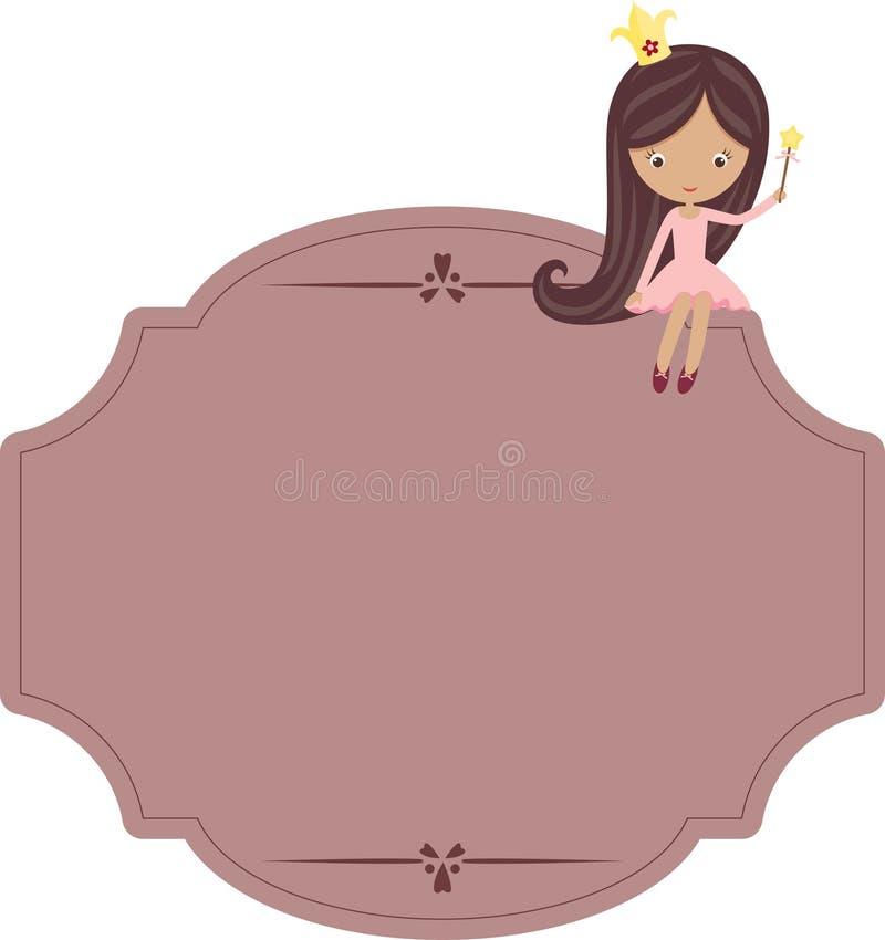 Signboard Princess иллюстрация вектора