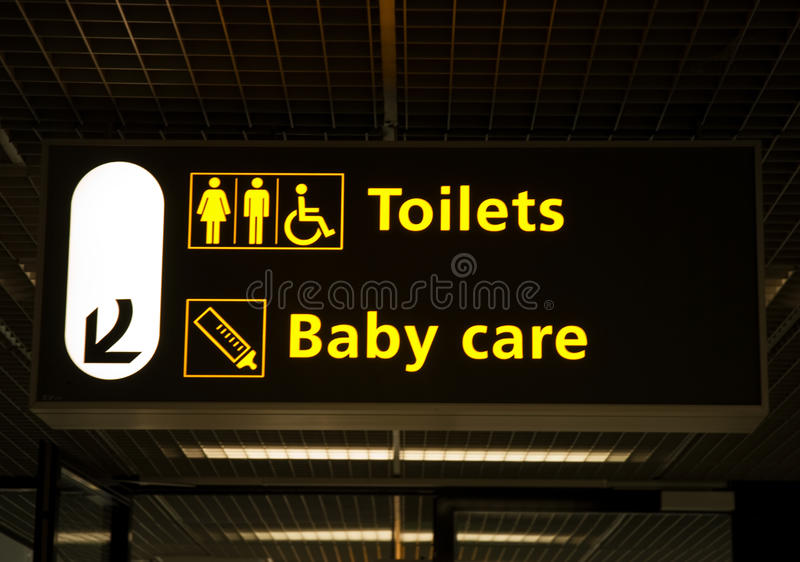 Signboard, Schiphol Airport stock photos