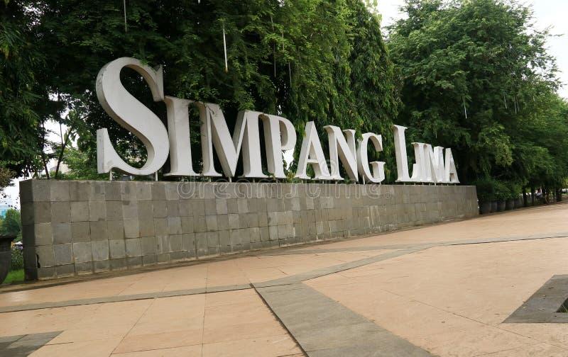 Signboard Simpang Lima fotografia royalty free