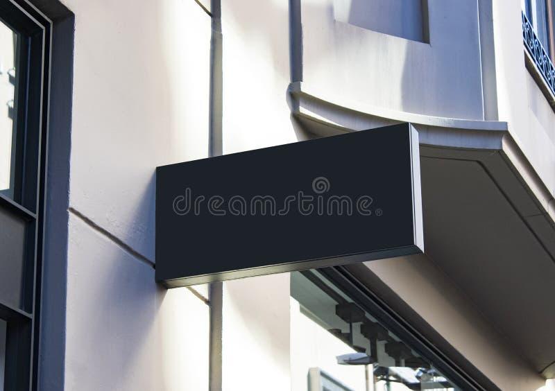 Signboard szablon na nowożytnej ulicie i mockup obrazy stock