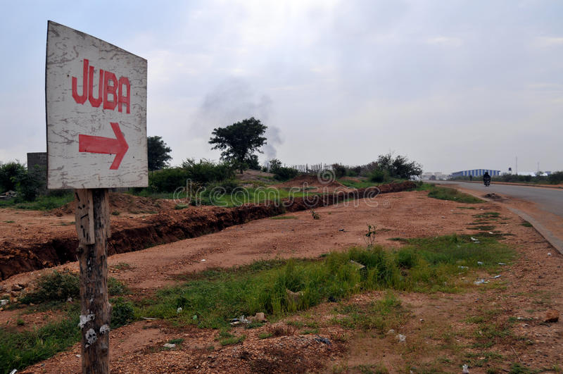 Signe à Juba image libre de droits