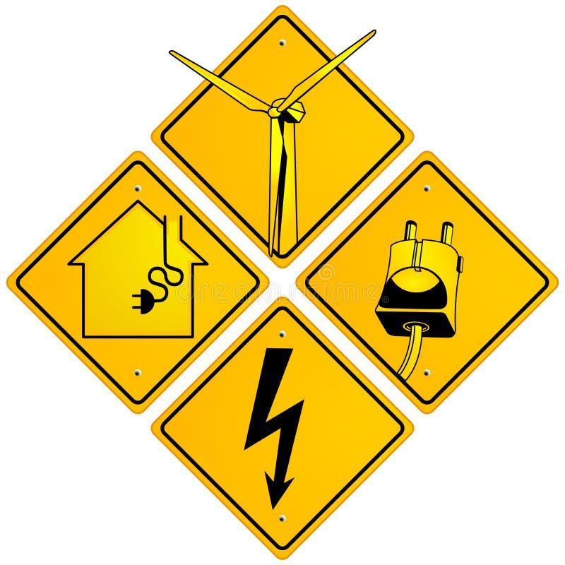 Signe électrique illustration stock