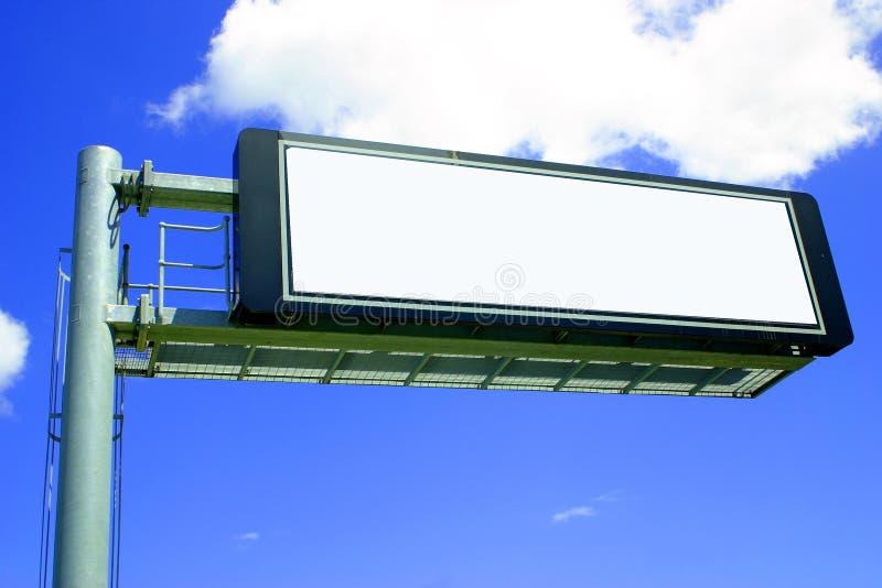 Signe électronique de blanc de bord de la route photographie stock