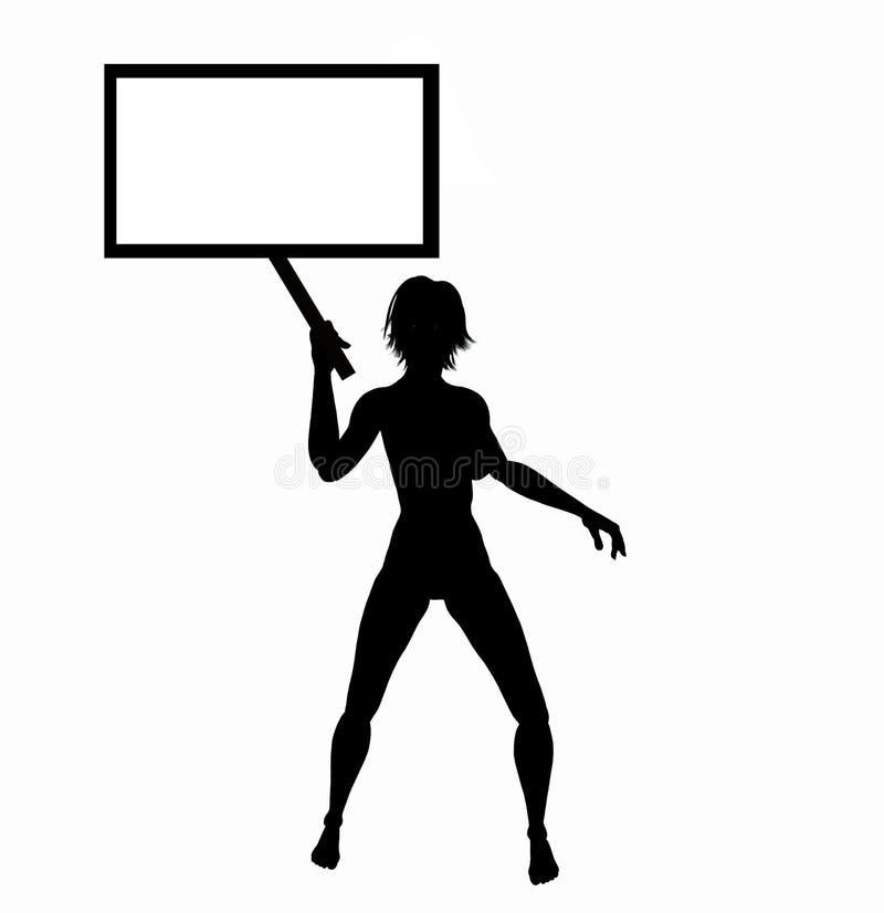 Signe 1 de femmes illustration de vecteur
