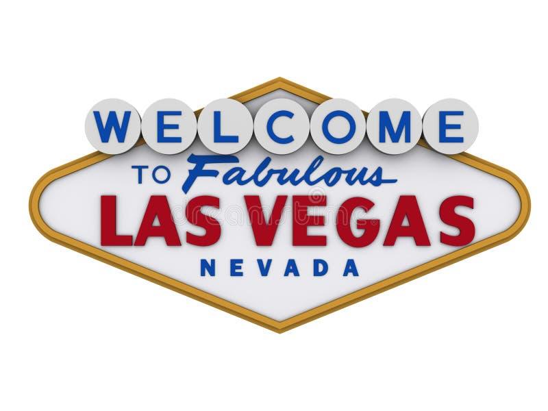 Signe 1 de Las Vegas illustration stock