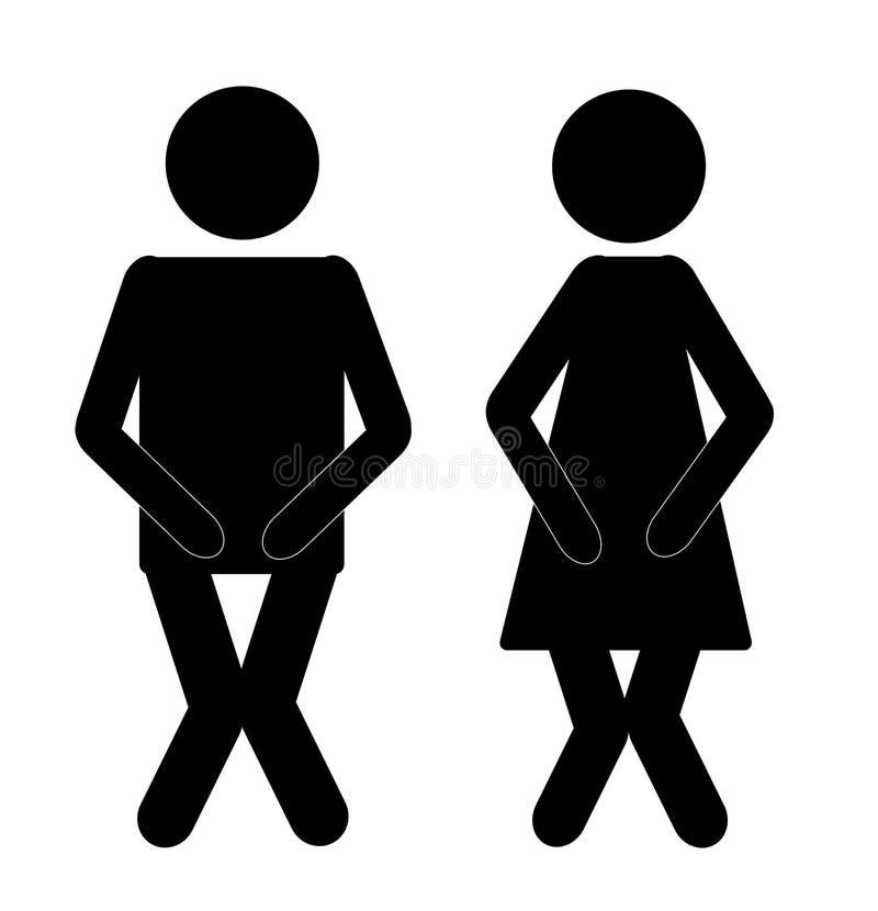 Signe 1 de salle de bains illustration de vecteur