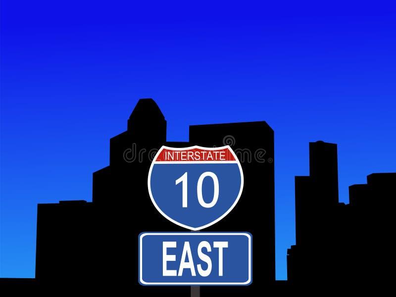 Signe 10 d'un état à un autre de Houston illustration libre de droits