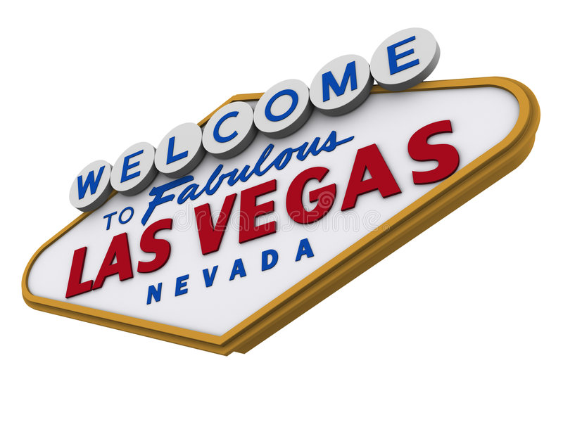 Signe 2 de Las Vegas illustration stock