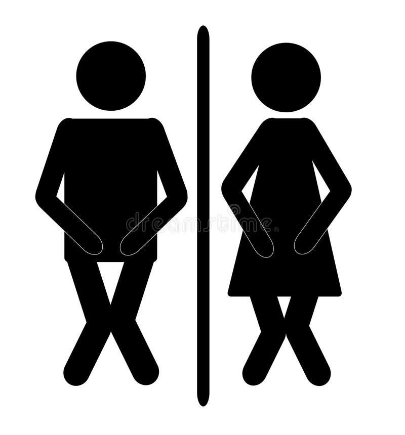 Signe 2 de salle de bains illustration stock