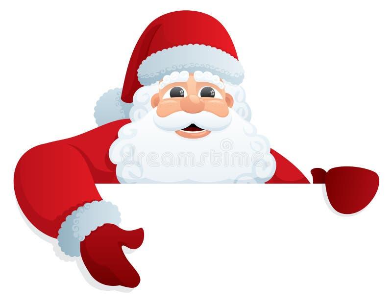 Signe 2 de Santa illustration stock