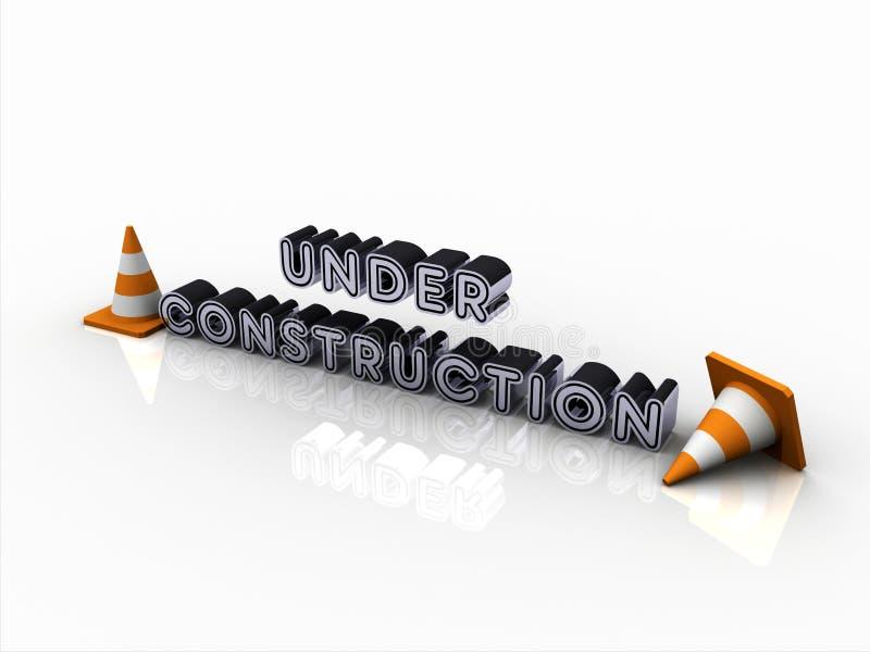 signe 3D en construction illustration stock
