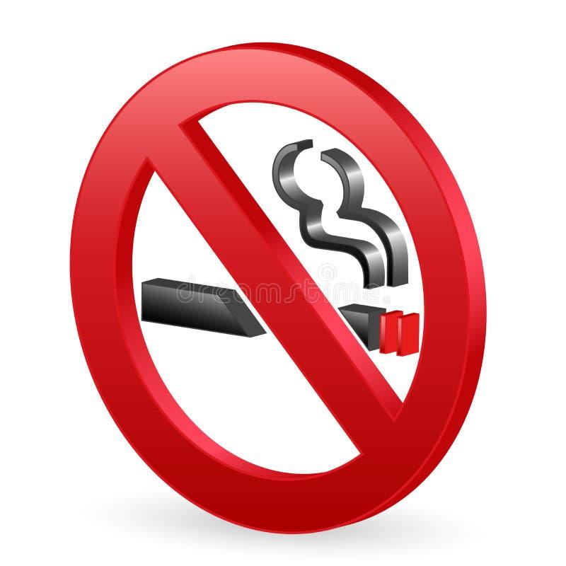 signe 3D non-fumeurs illustration libre de droits