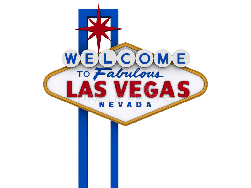Signe 5 de Las Vegas illustration stock