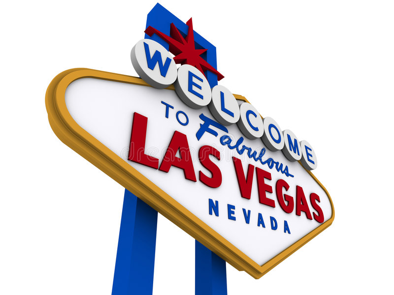 Signe 7 de Las Vegas illustration stock