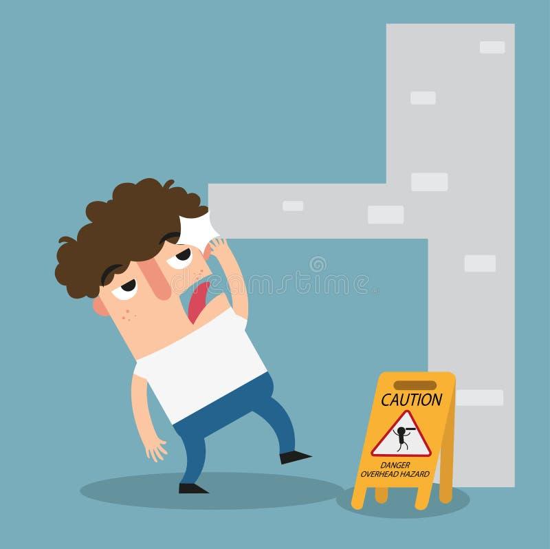 Signe aérien de précaution de risque de danger illustration de vecteur