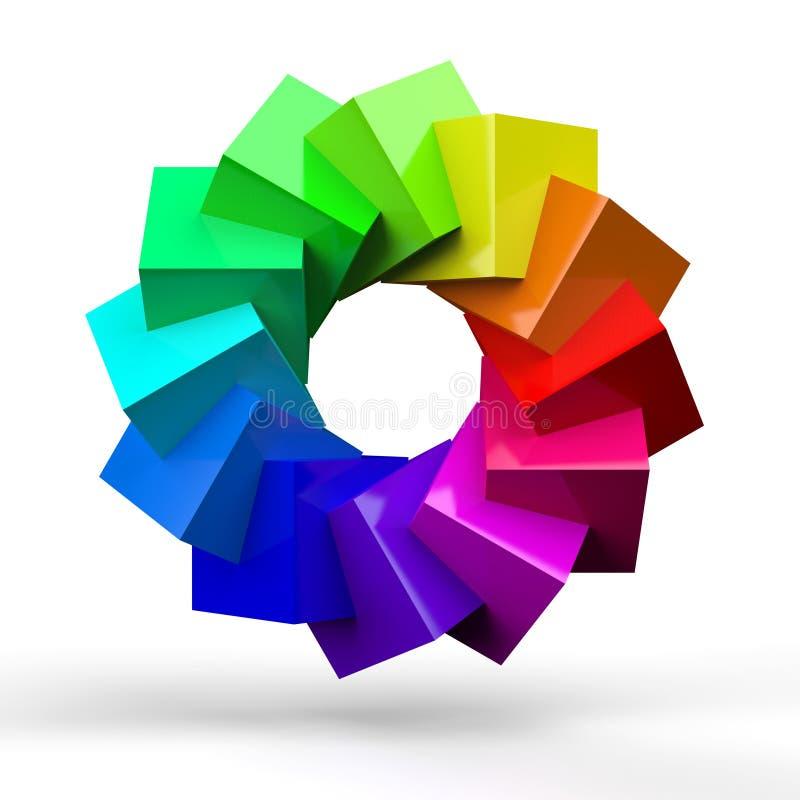 Signe abstrait coloré illustration stock
