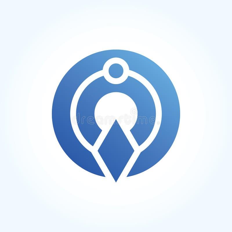 Signe abstrait de logo de cercle de lettre conception matérielle, vecteur illustration libre de droits