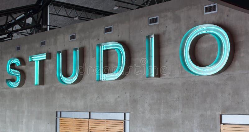 Signe abstrait de studio images libres de droits