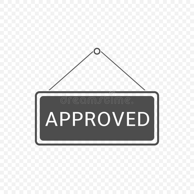 Signe accrochant approuvé illustration libre de droits
