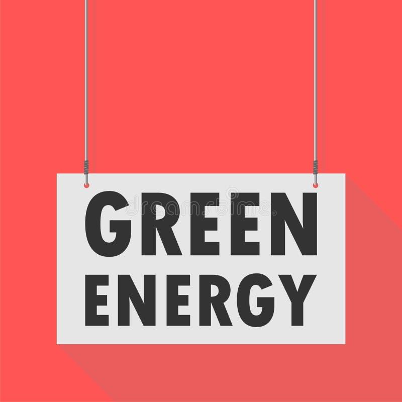 Signe accrochant d'énergie verte illustration libre de droits