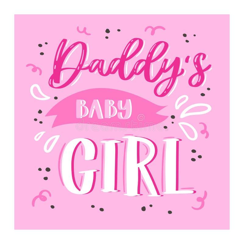 Signe aimable lettring de belle calligraphie de vecteur de jour de famille au papa de maman je t'aime le jour de mères ou de père illustration de vecteur