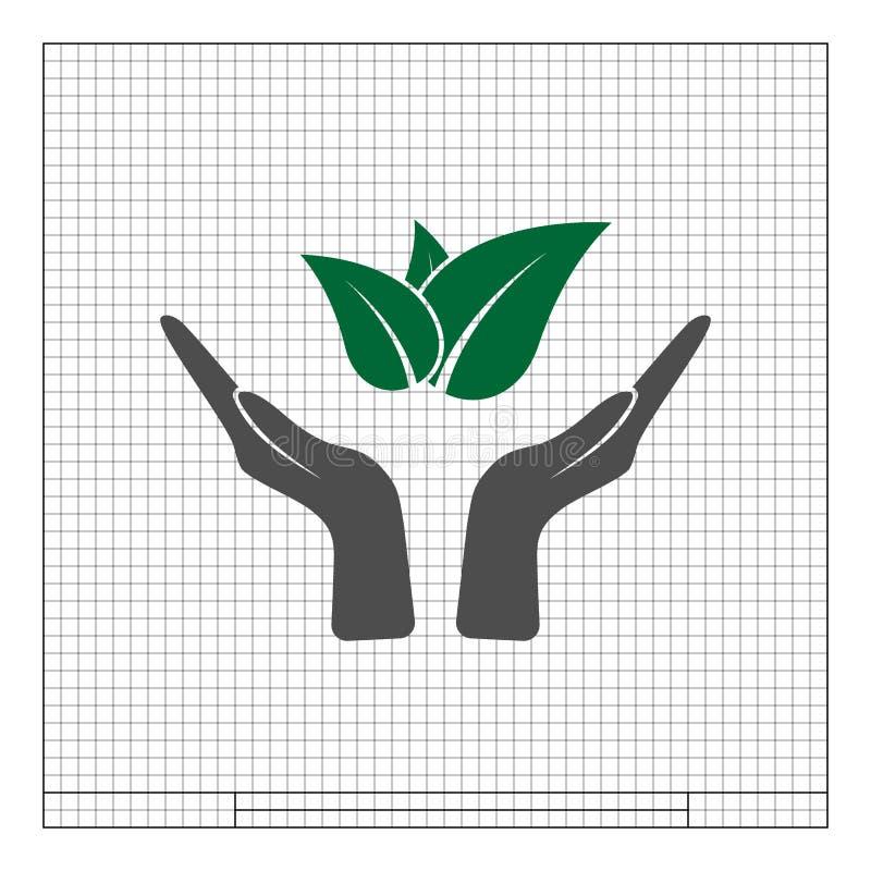 Signe amical d'eco vert illustration stock