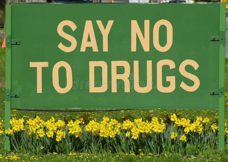 Signe Anti-drug images libres de droits