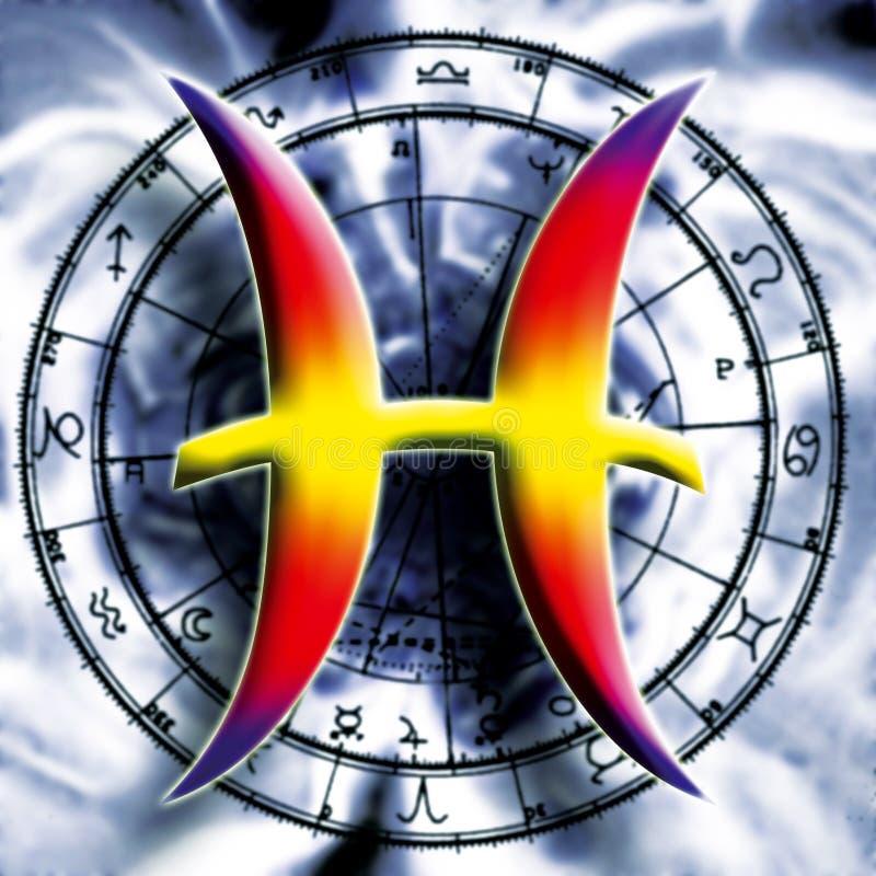 Signe astrologique de Poissons illustration libre de droits