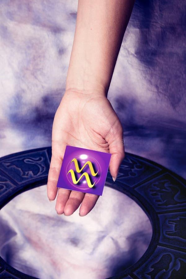 signe astrologique de Verseau photos libres de droits